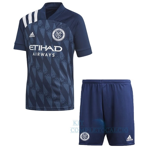 Home Set Completo Bambino New York City 2020 2021 Blu Maglie Calcio Thailandia
