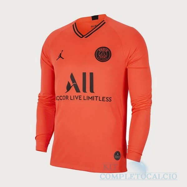 Away Manica lunga Paris Saint Germain 2019 2020 Oroange Maglie Calcio Thailandia